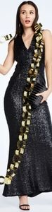 Dress the Population Karina Plunge sequin gown